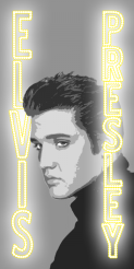 This design was a custom order for a big Elvis Presley fan to be applied as decals on his cornhole boards.