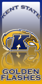 This was a commission design for a set of Kent State Cornhole boards.