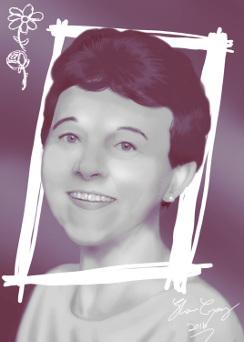 Portrait Drawing - Oma